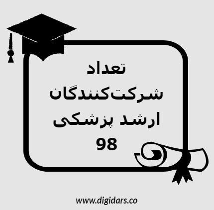 تعداد شرکتکنندگان ارشد پزشکی 98