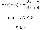 معادله عمومی برنامه ریزی خطی کسری